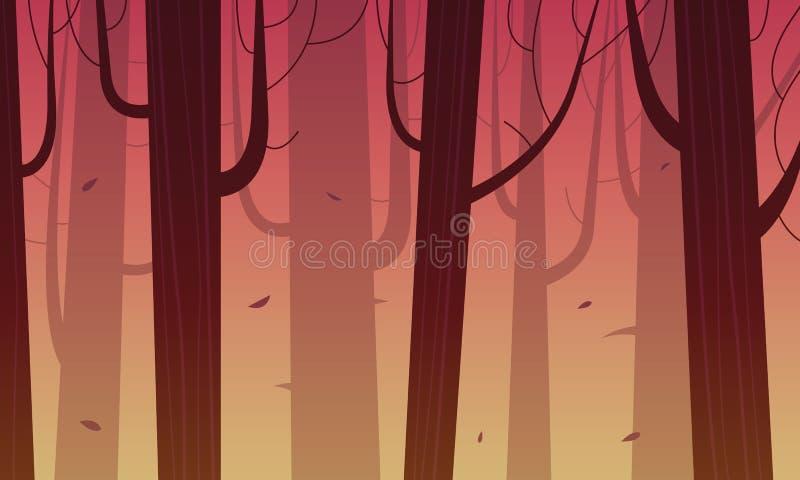 Δάσος κινούμενων σχεδίων ελεύθερη απεικόνιση δικαιώματος
