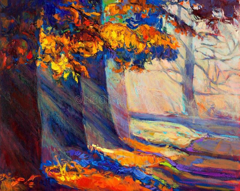 Δάσος φθινοπώρου διανυσματική απεικόνιση