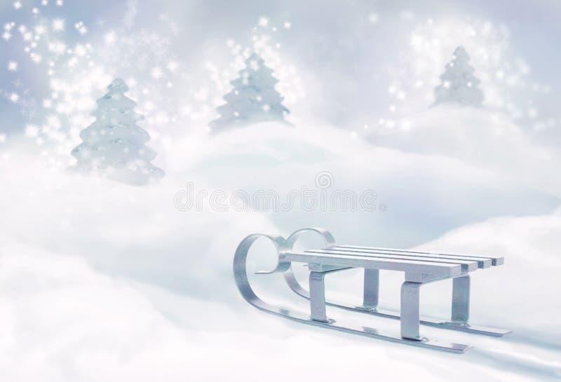 δάσος Χριστουγέννων μαγ&iota στοκ φωτογραφίες