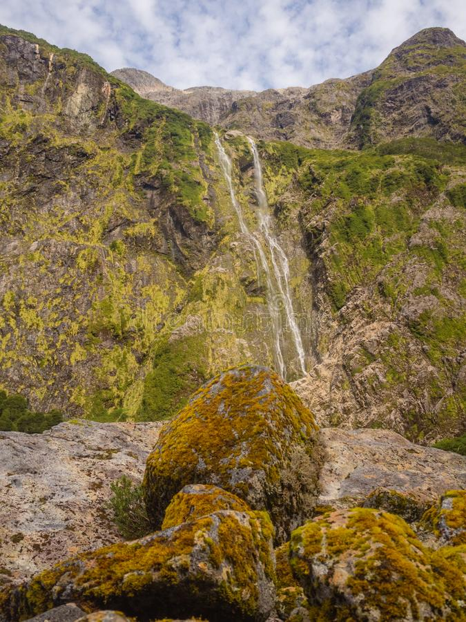 Δάσος Enchanted - εθνικό πάρκο Queulat - Carretera νότια Χιλή, Παταγωνία στοκ εικόνες