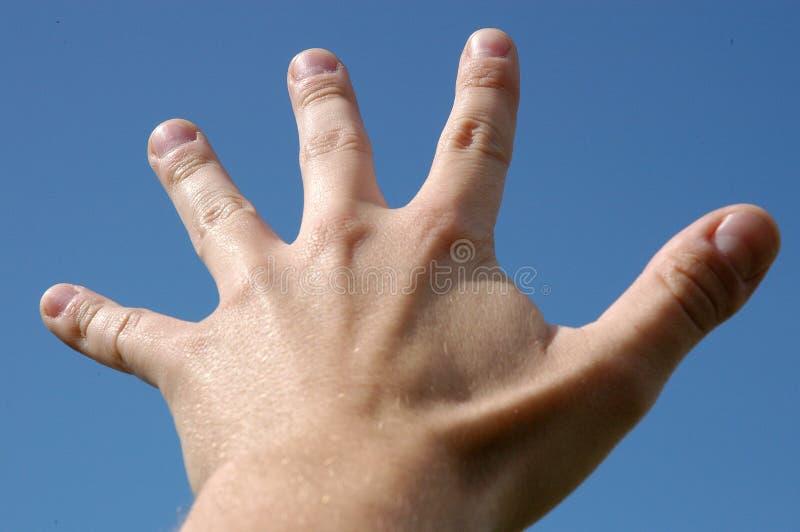 δάχτυλα πέντε στοκ φωτογραφία με δικαίωμα ελεύθερης χρήσης