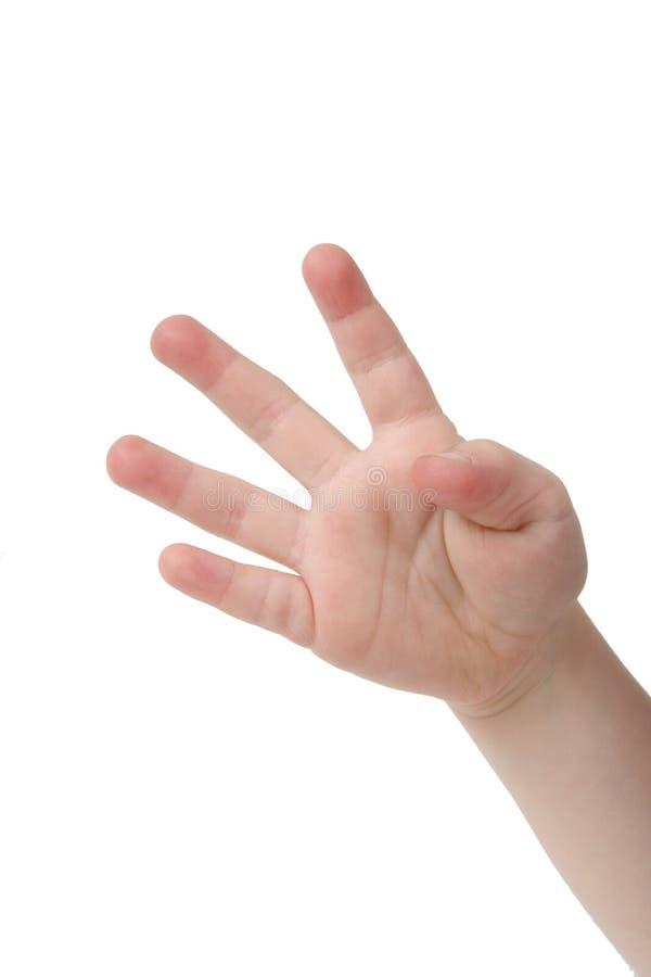 δάχτυλα τέσσερα στοκ εικόνες