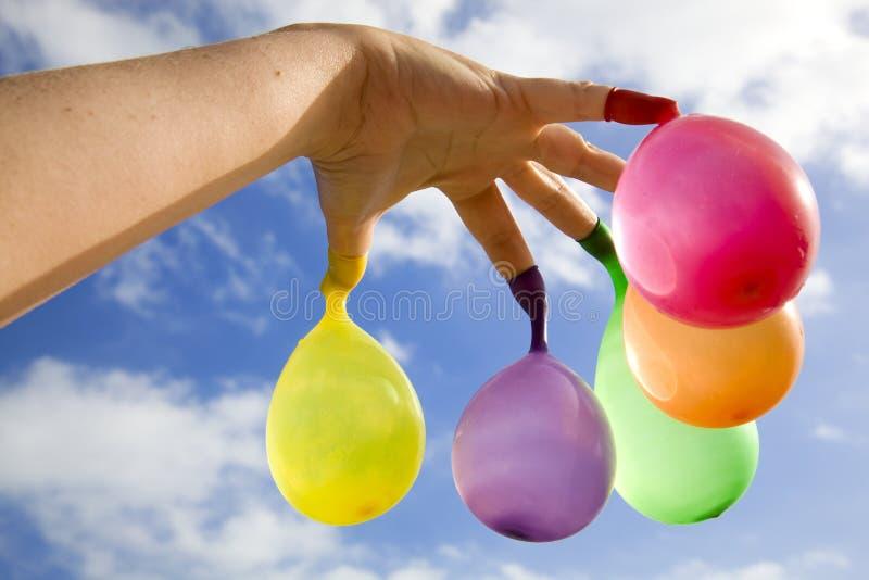 δάχτυλο μπαλονιών στοκ εικόνες