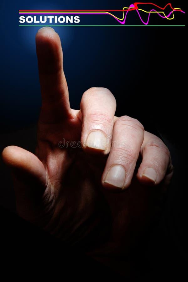 δάχτυλο solutions2 στοκ εικόνες