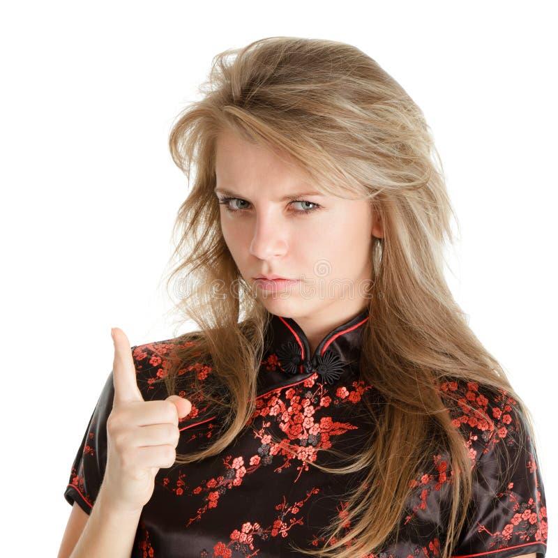 δάχτυλο wag του στοκ φωτογραφία με δικαίωμα ελεύθερης χρήσης