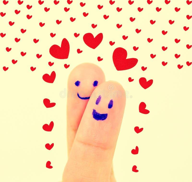 Δάχτυλα με την αγάπη στοκ φωτογραφίες