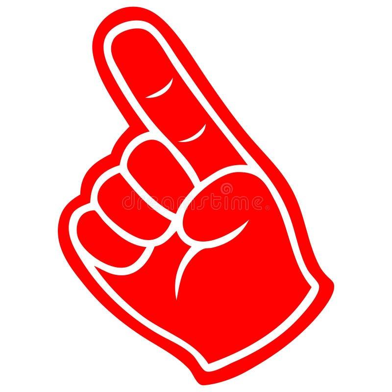 Δάχτυλο αφρού ελεύθερη απεικόνιση δικαιώματος