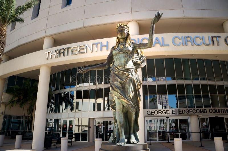 Δέκατο τρίτο δικαστικό περιφερειακό δικαστήριο της Φλώριδας, στο κέντρο της πόλης Τάμπα, Φλώριδα, Ηνωμένες Πολιτείες στοκ εικόνα με δικαίωμα ελεύθερης χρήσης