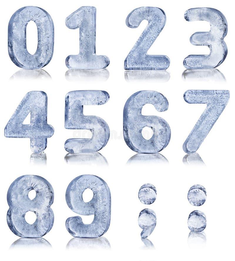 Δέκα αριθμοί πάγου στοκ φωτογραφία με δικαίωμα ελεύθερης χρήσης