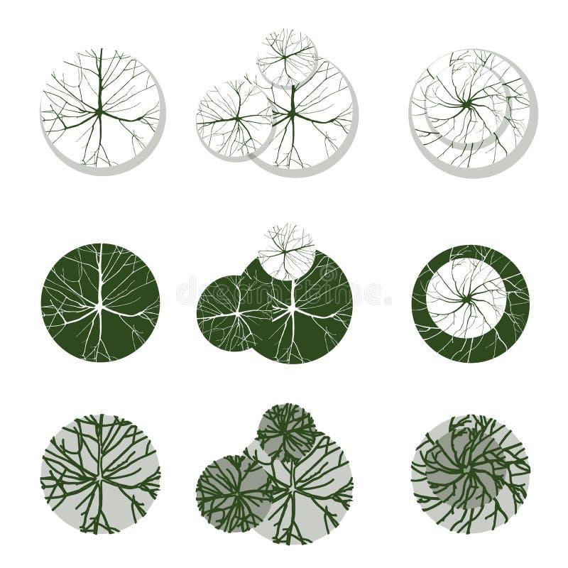 Δέντρα για το τοπίο σας desgns διανυσματική απεικόνιση