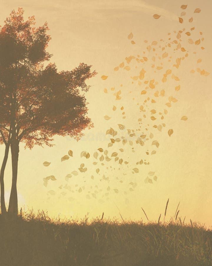 δέντρα εγγράφου πτώσης αν&alph απεικόνιση αποθεμάτων