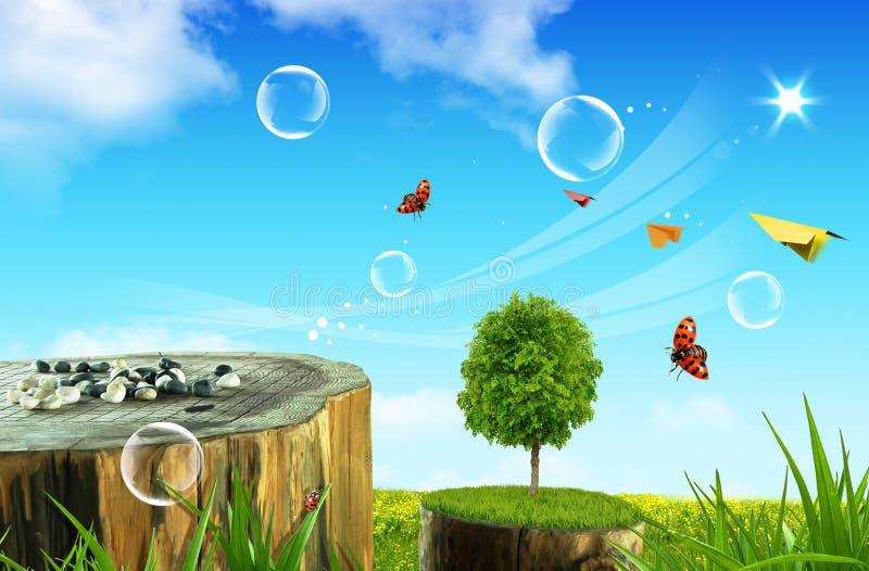 Download δέντρα λουλουδιών στοκ εικόνα. εικόνα από πεταλούδα, ήλιος - 13177031