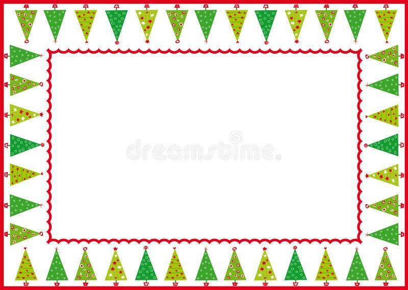 δέντρα πλαισίων Χριστουγέ& ελεύθερη απεικόνιση δικαιώματος