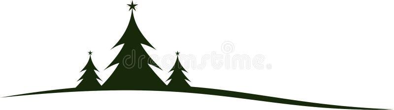 Δέντρα του FIR σε ένα χιονώδες τοπίο απεικόνιση αποθεμάτων
