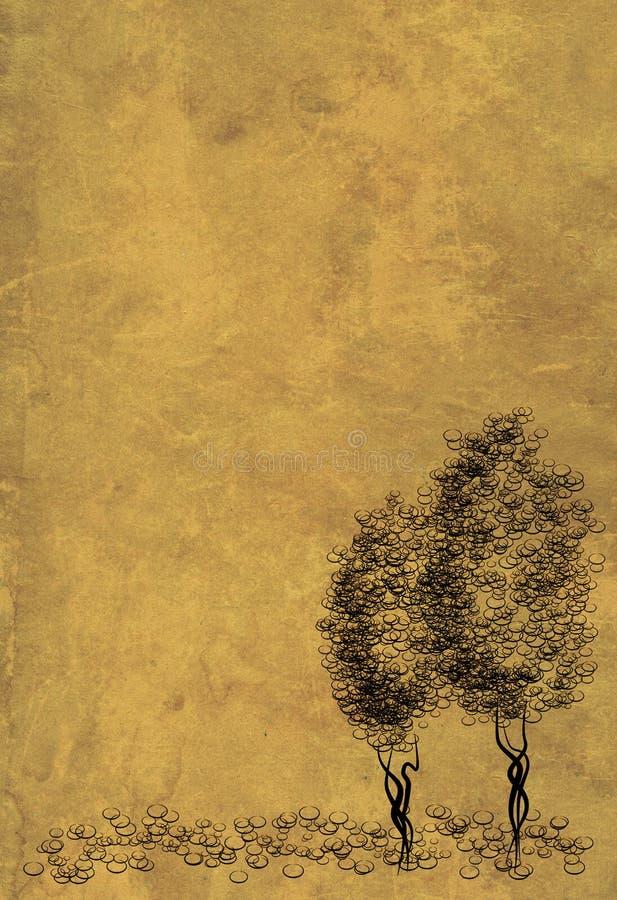 δέντρα φύλλων περγαμηνής α&rho απεικόνιση αποθεμάτων