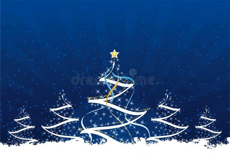 δέντρα Χριστουγέννων grunge διανυσματική απεικόνιση