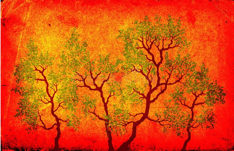 Download δέντρα απεικόνιση αποθεμάτων. εικονογραφία από καλοκαίρι - 1532713