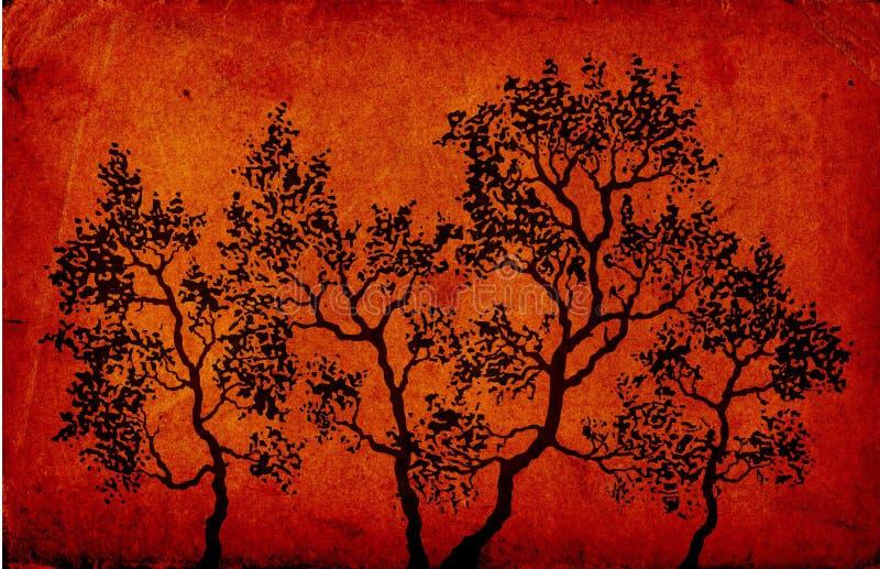 Download δέντρα απεικόνιση αποθεμάτων. εικονογραφία από τρύγος - 1532715