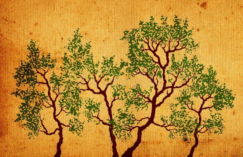 Download δέντρα απεικόνιση αποθεμάτων. εικονογραφία από grunge - 1532718