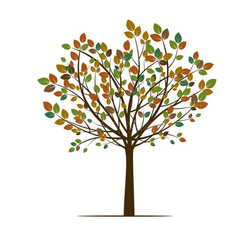 Δέντρο άνοιξης φθινοπώρου επίσης corel σύρετε το διάνυσμα απεικόνισης διανυσματική απεικόνιση