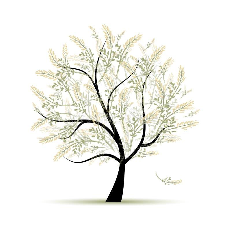 Δέντρο άνοιξη πράσινο για το σχέδιό σας ελεύθερη απεικόνιση δικαιώματος
