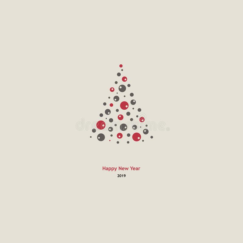 Δέντρο έλατου χειμερινών διακοπών backgound διανυσματική απεικόνιση