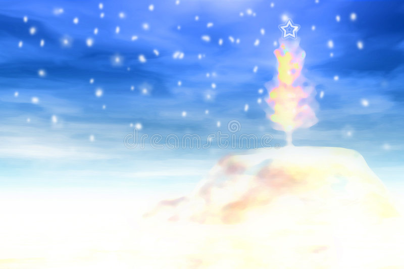 Download δέντρο απεικόνισης Χριστ&omic Απεικόνιση αποθεμάτων - εικονογραφία από αναδρομικός, νιφάδα: 383402