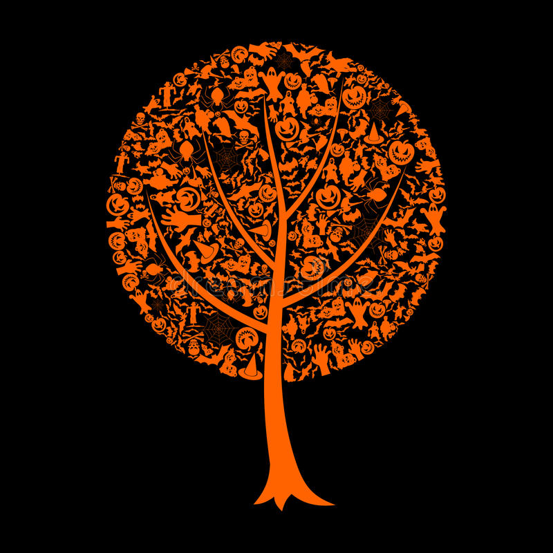 Δέντρο αποκριές ελεύθερη απεικόνιση δικαιώματος