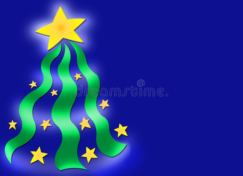 δέντρο αστεριών Χριστουγέννων ανασκόπησης ελεύθερη απεικόνιση δικαιώματος