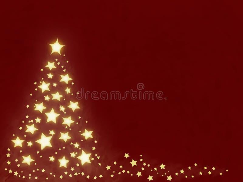δέντρο αστεριών Χριστουγέννων ελεύθερη απεικόνιση δικαιώματος
