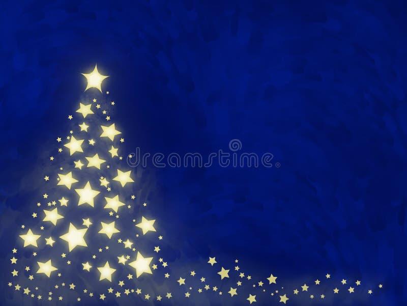 δέντρο αστεριών Χριστουγέννων απεικόνιση αποθεμάτων