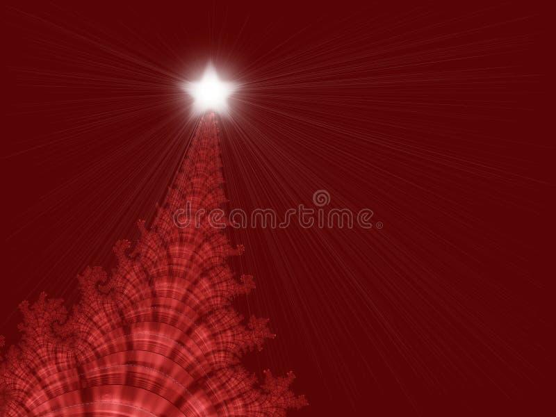 δέντρο αστεριών Χριστουγ απεικόνιση αποθεμάτων