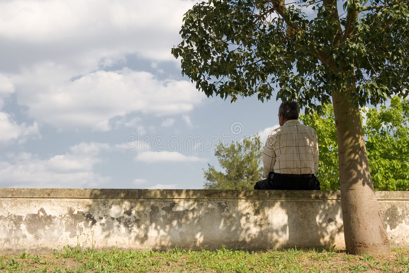 δέντρο ατόμων κάτω στοκ εικόνες με δικαίωμα ελεύθερης χρήσης