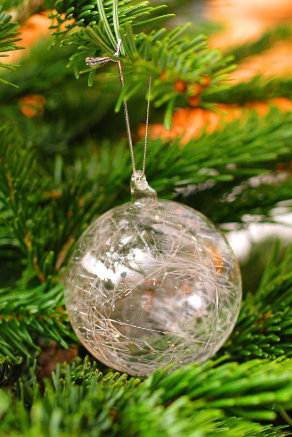 δέντρο διακοσμήσεων γυαλιού Χριστουγέννων στοκ εικόνα