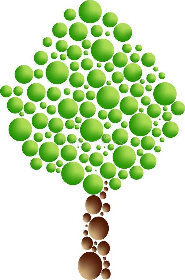 δέντρο εικονιδίων φυσαλί ελεύθερη απεικόνιση δικαιώματος