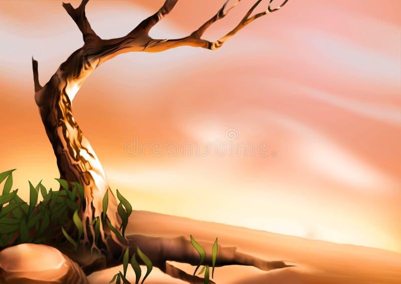Download δέντρο ερήμων απεικόνιση αποθεμάτων. εικονογραφία από ζωγραφική - 2226449