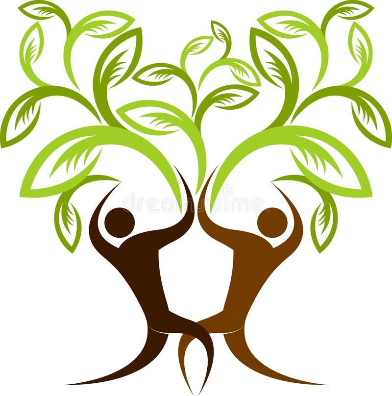Δέντρο ζεύγους ελεύθερη απεικόνιση δικαιώματος
