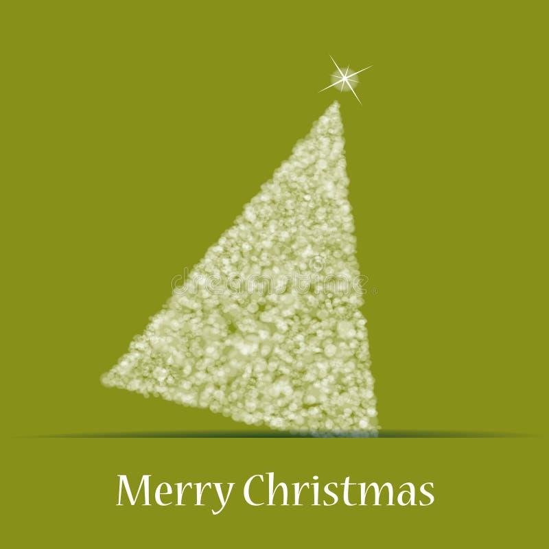 δέντρο θέματος Χριστουγέννων απεικόνιση αποθεμάτων