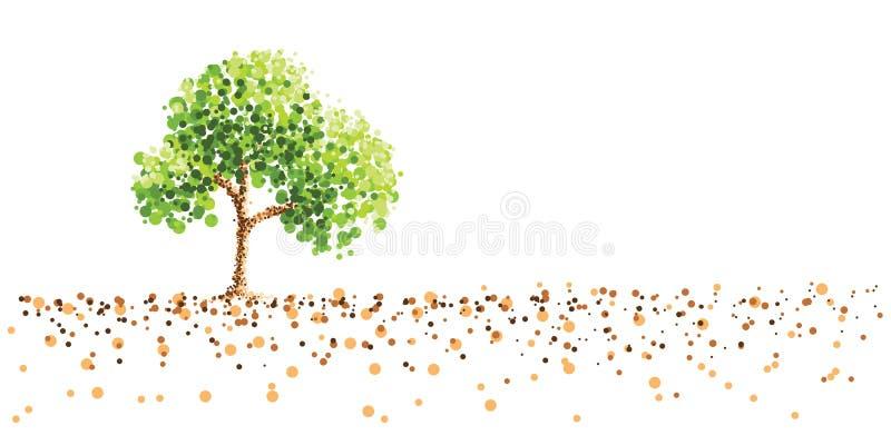 Δέντρο και έδαφος ελεύθερη απεικόνιση δικαιώματος