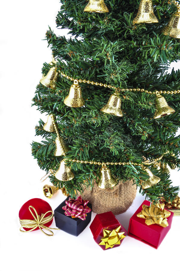 Δέντρο και δώρα Noel στοκ φωτογραφίες