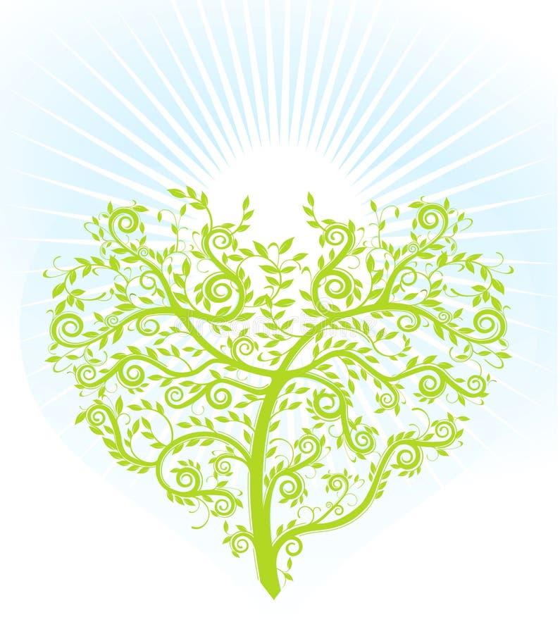 δέντρο καρδιών ελεύθερη απεικόνιση δικαιώματος