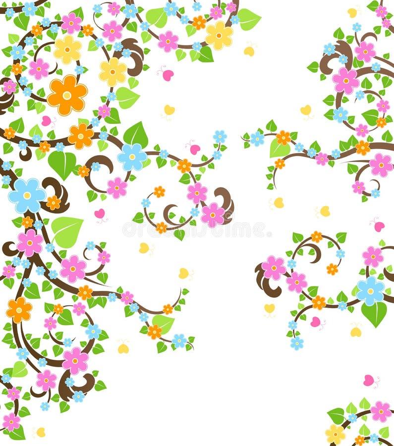 Download δέντρο κερασιών ανθών διανυσματική απεικόνιση. εικονογραφία από λουλούδια - 13183750