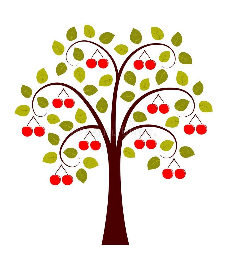 Δέντρο κερασιών διανυσματική απεικόνιση