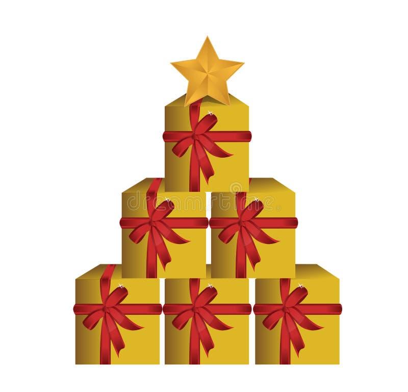 Δέντρο κιβωτίων δώρων Στοκ Φωτογραφία