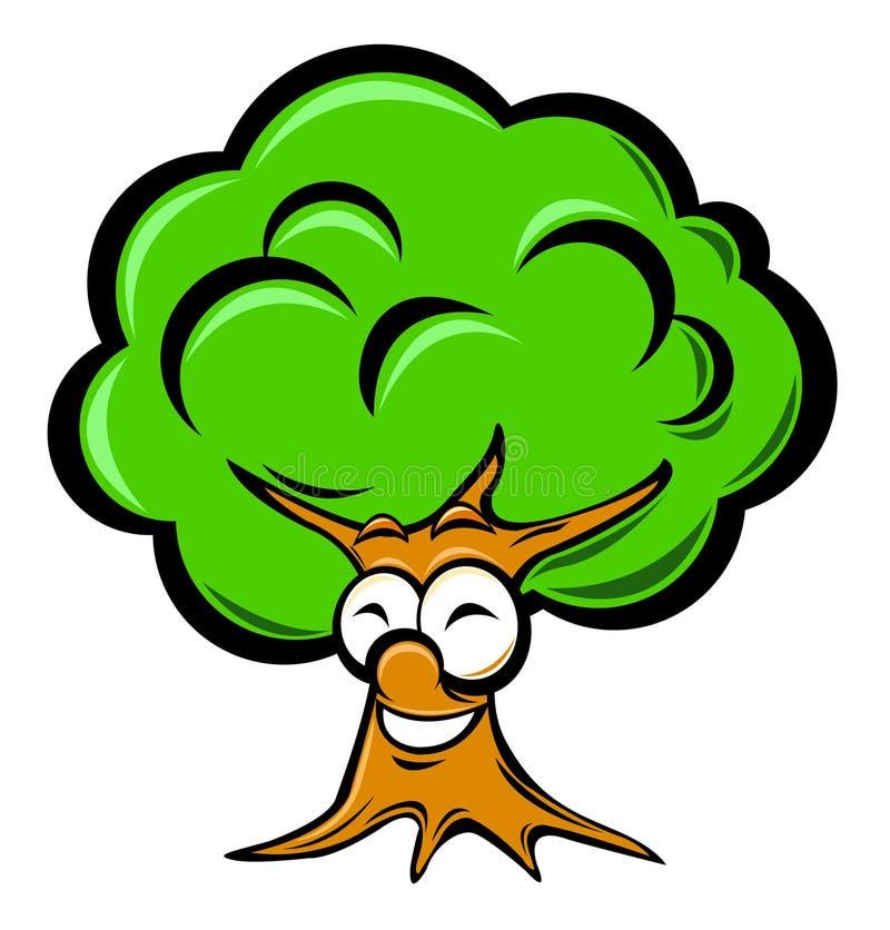 δέντρο κινούμενων σχεδίων ελεύθερη απεικόνιση δικαιώματος
