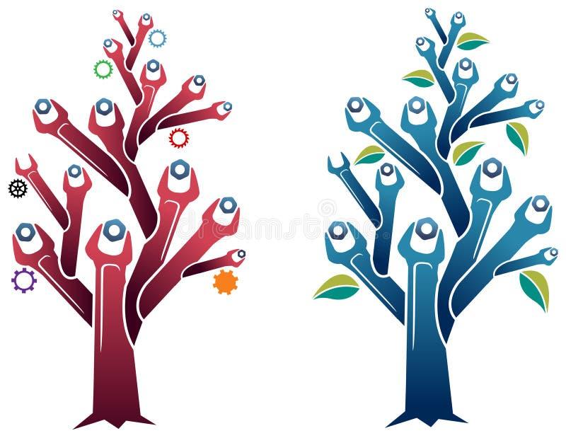 Δέντρο κλειδιών διανυσματική απεικόνιση