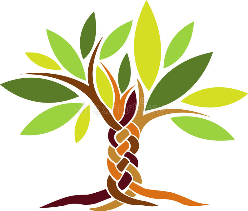 δέντρο μαλλιών πλεξίματος ελεύθερη απεικόνιση δικαιώματος