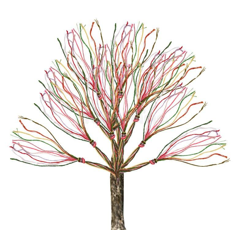 Δέντρο-μεταφορά βαμβακιού διανυσματική απεικόνιση