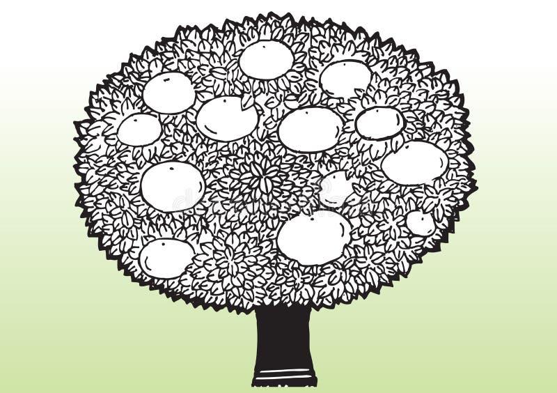 Δέντρο μηλιάς κινούμενων σχεδίων διανυσματική απεικόνιση