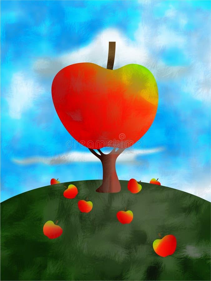 δέντρο μηλιάς διανυσματική απεικόνιση